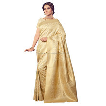 Off White Kanchipuram Silk Saree/ Womens Sarees Online Shopping/ Sarees In Online Shopping