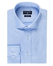 Men 2018 Formal Shirt Solid Color Blue Casual 100% Cotton Shirt