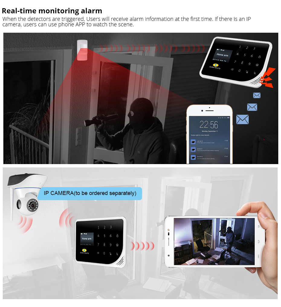 2018 Latest New Products GSM WIFI Alarm System Home Security System GS-S5 Smart Home Security Alarm System Smart Phone Control