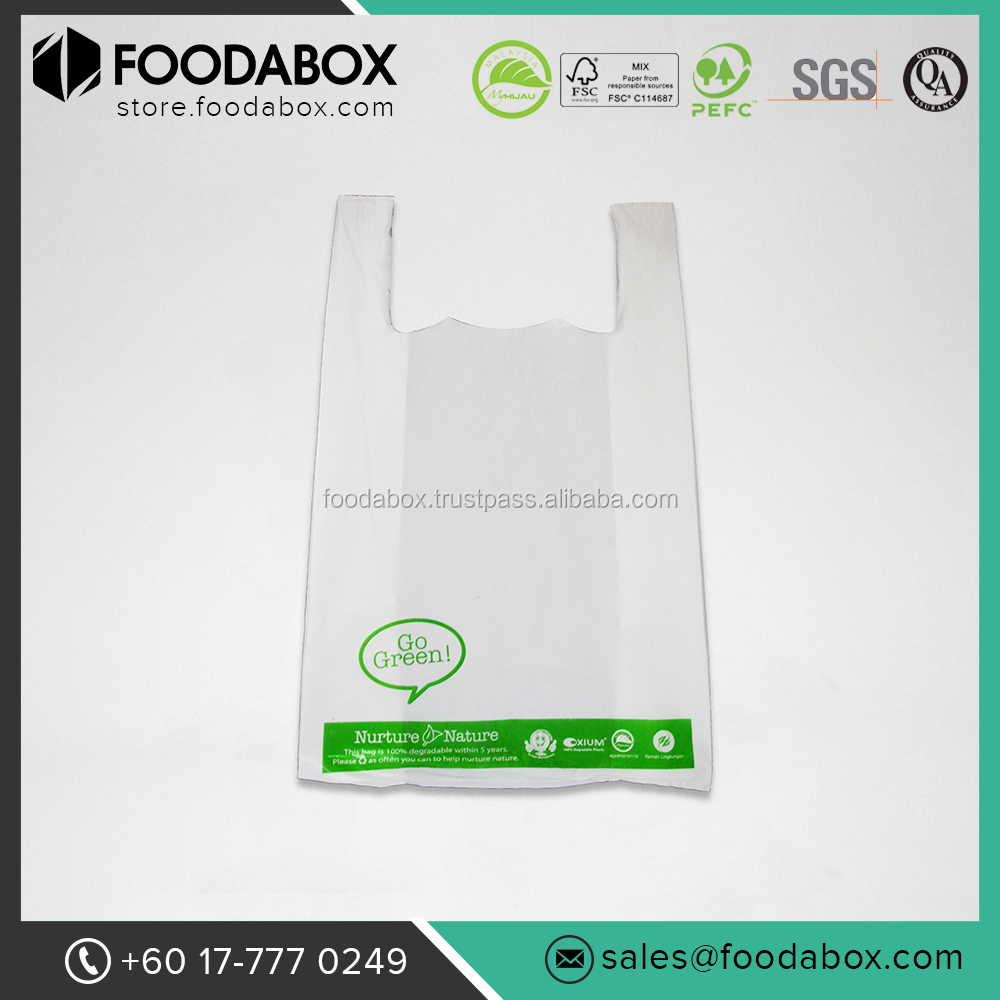 biodegradable small shopping plastic carry bag