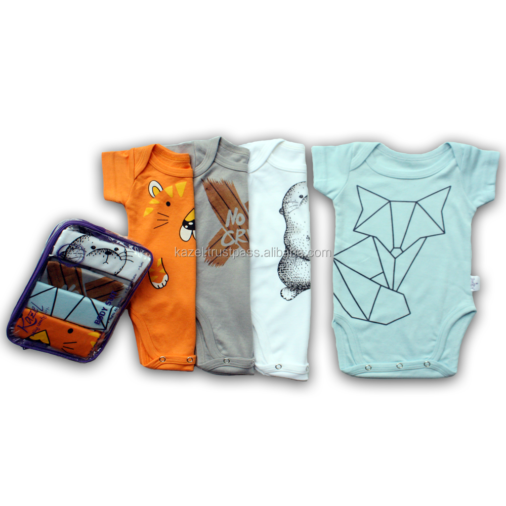 Cool Newborn Baby Bodysuit Cotton Material Fox Edition | Kazel