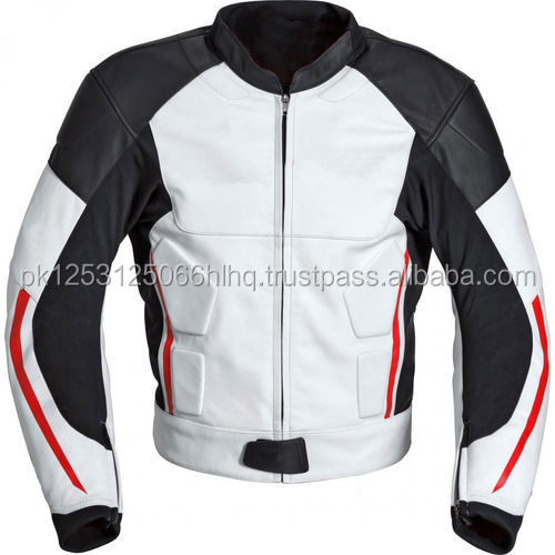 Motorbike Style Rider Men Leather Jacket