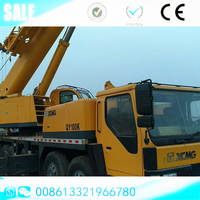 High efficiency 2012 XCMG used 100 tons truck mounted crane QY100K Telescopic boom mobile crane