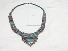 Awesome nepali design german silver necklaces