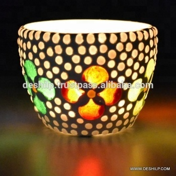 Crystal Candle Holders mosaic Lanterns Mercury Glass Candle Holders Hanging Glass Terrariums Candles