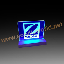 Led Lighted Acrylic Signs and Photo Sculptures, Acrylic LED Edge Lit Sign with Aluminium Base