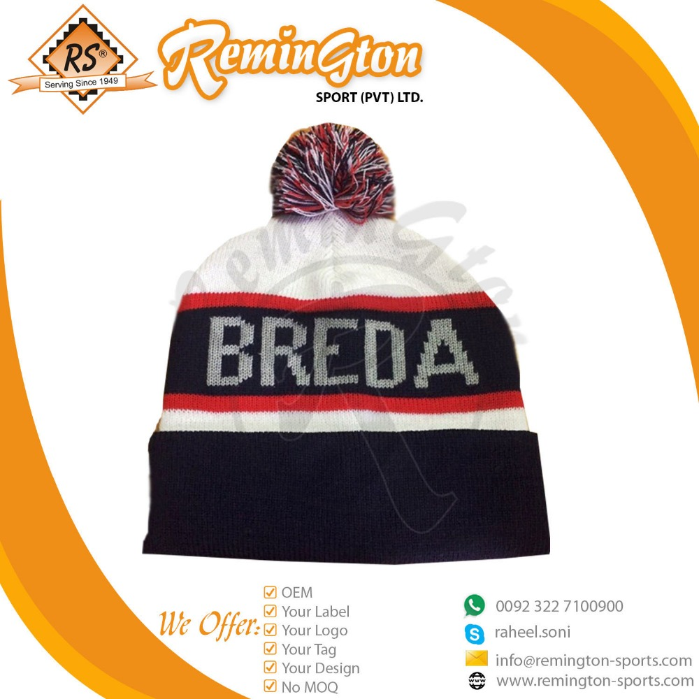 Customized new winter 2017 beanie with wide stripes soft warm beanie article SB-07