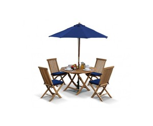Octagonal Folding Garden Table and Chair Set Outdoor Patio Tteak Dining Set