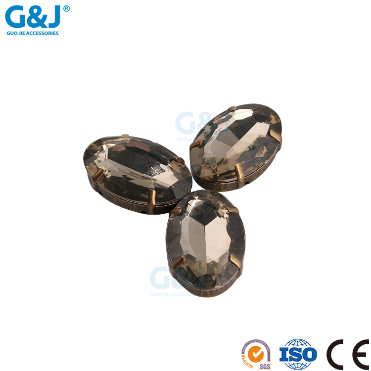 guojie brand new design good quality wholesale brown claw with acrylic stone