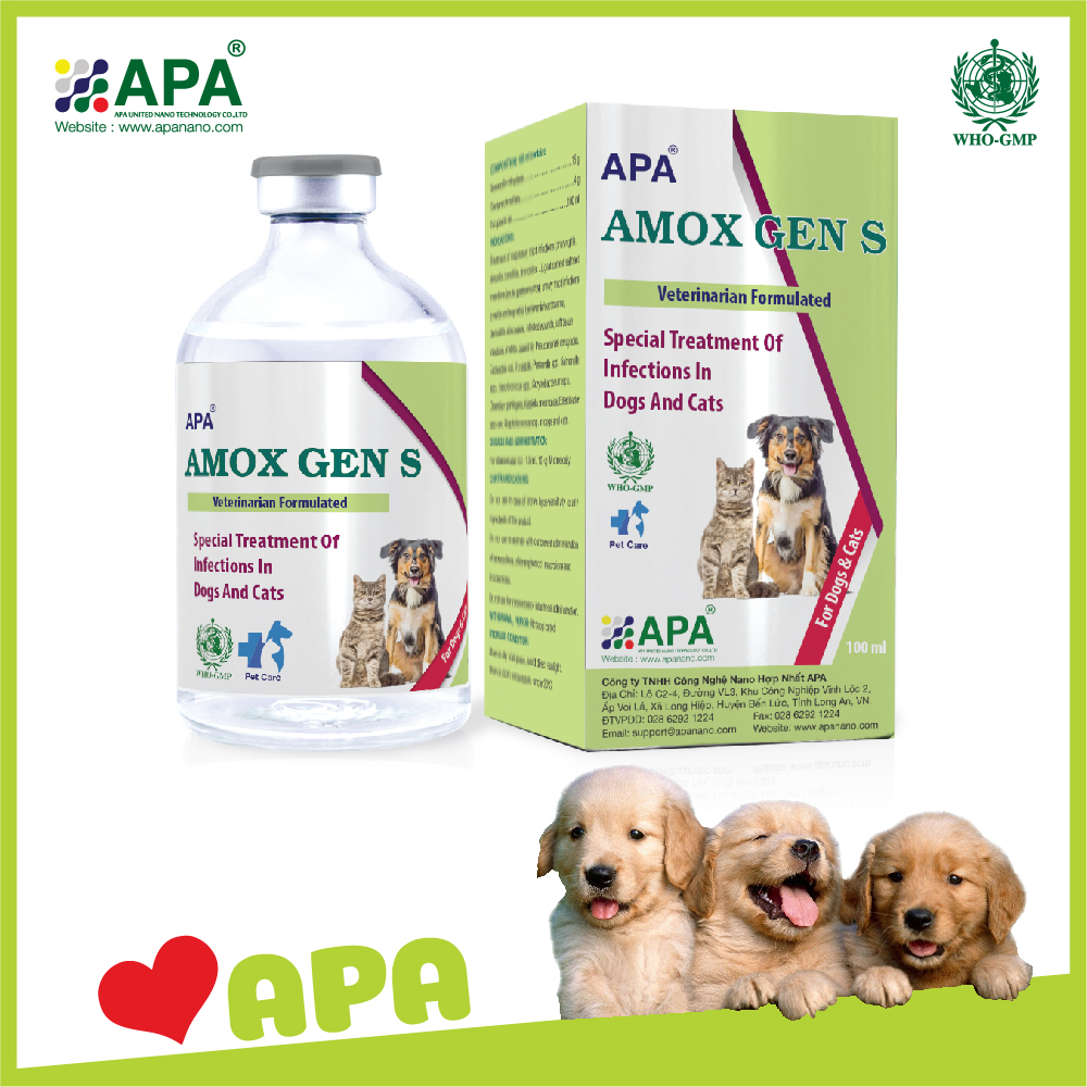 APA Amox Gen S| Best Pet Medicine with Amoxicillin Injection| Dog Medicine