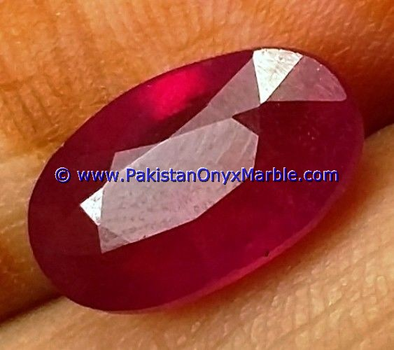 RUBY FACETED CUT STONES SHAPES ROUND OVAL FROM HUNZA KASHMIR PAKISTAN