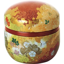 Hermetic round tea tin box for blocking out light, odors, and humidity