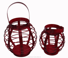 Manufacture antique red iron diwali lantern