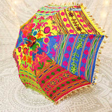 indian bulk Decorative Hand embroidered Patchwork parasol lace umbrella Boho chic Indian umbrellas