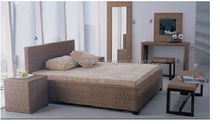 Favorite design water hyacinth bedroom set with acacia frame, high quality product, Viet Nam producer