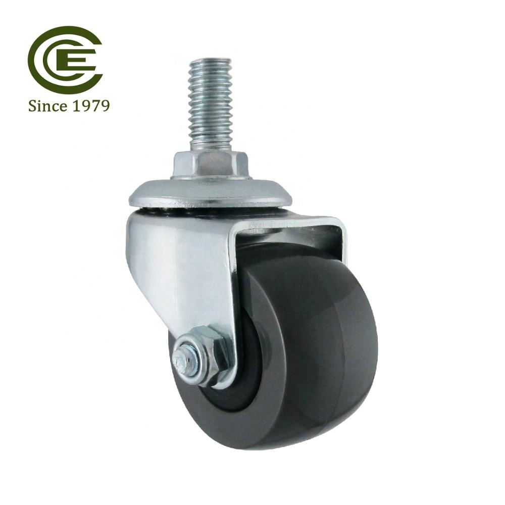 CCE Caster 1.5 Inch Threaded Stem Rubber Caster <strong>Wheel</strong>