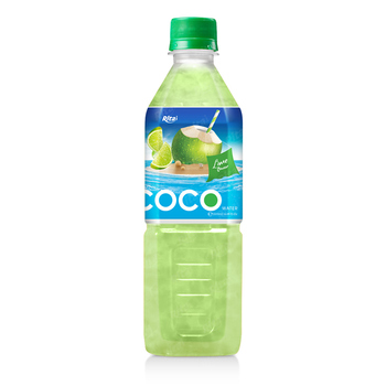 500ml pet bottle Lime Flavor Coconut Water