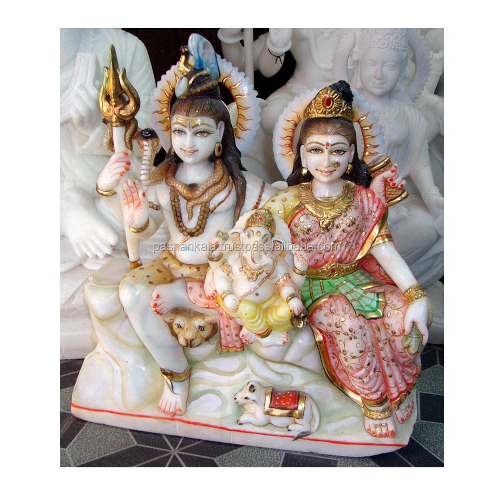 Marmer Putih Shiva Parvati Murti Buy Indian Allah Shiv Parivar Patung Rama Sita Patungputih Murtilord Product On Alibabacom