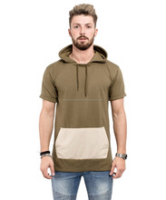short sleeve t-shirt with hood/simple short sleeve t-shirt with hood