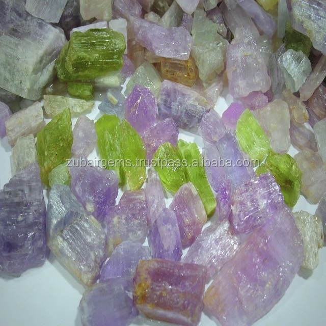 500 Grm Natural Kunzite Rough Lots for Cut Stones & Cabochons 100 Kg Available in Stocks