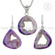 Latest design druzy silver jewelry set 925 sterling silver jewelry wholesaler silver jewelry set exporters