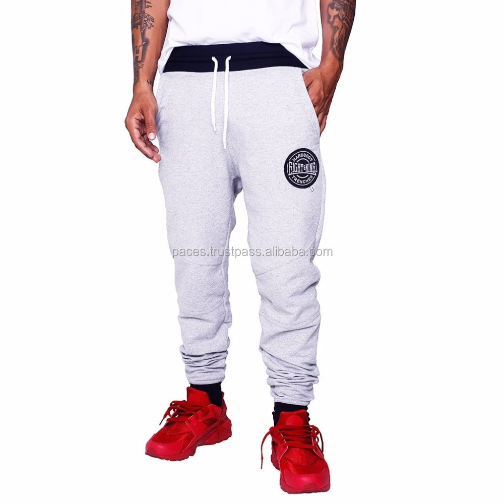 Customized Jogger Pants Embroidered with Logo on Front Left Pocket