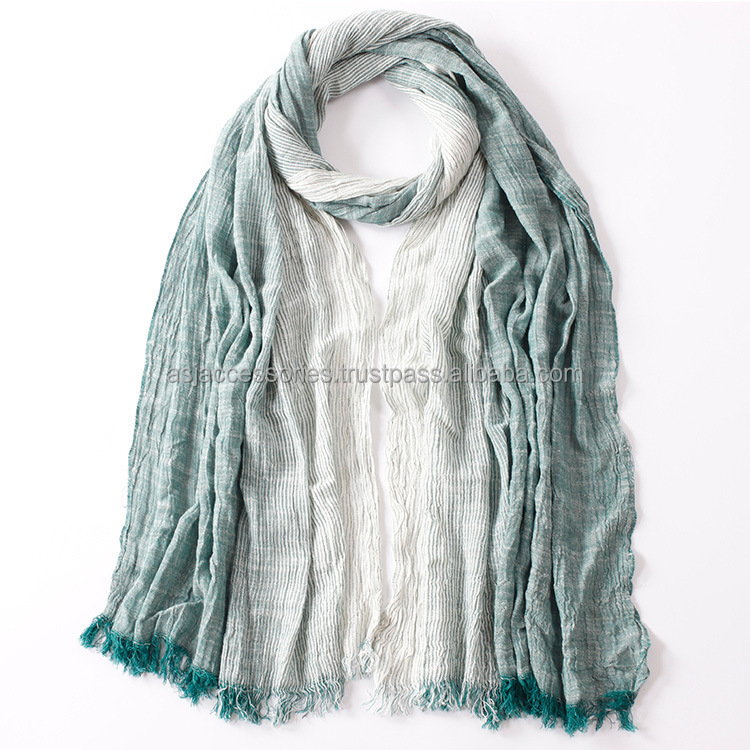 Cotton and linen pareo beach sarong scarf