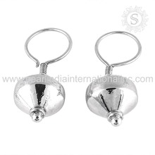 Expandable silver earring handmade silver jewelry 925 sterling silver wholesaler earrings suppliers