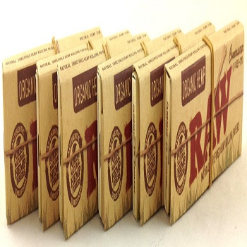 Pack Raw Organic Connoisseur Hemp 1 1/4 Cigarette Rolling Papers
