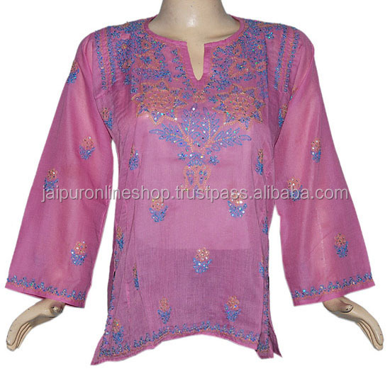Ethnic Embroidery Tunic wholesale Sexy and cool summer wear