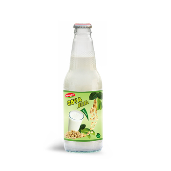 Wholesale Natural Soya milk Suppliers in Glass bottle 300ml
