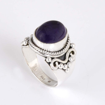 Amethyst beautiful sterling silver ring