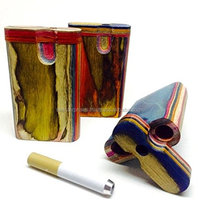 Best Handcrafted Press colored wood Dugout /Smoking Pipes