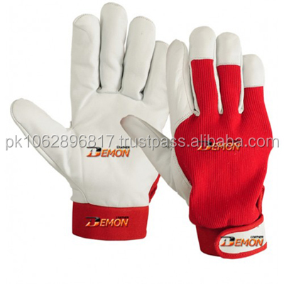 Heavy Duty Industrial Safety Driver Working Leather Gloves