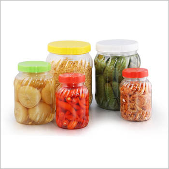 Small PET Plastic jar/bottle with PP lid/cap or aluminium lid to contain pepper salt candy cake