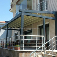 Demounted Motorized Retractable Integra Pergola Awnings