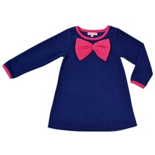 CrayonFlakes Kids Wear for Girls Fleece Straight Frock Dress with Sleeves