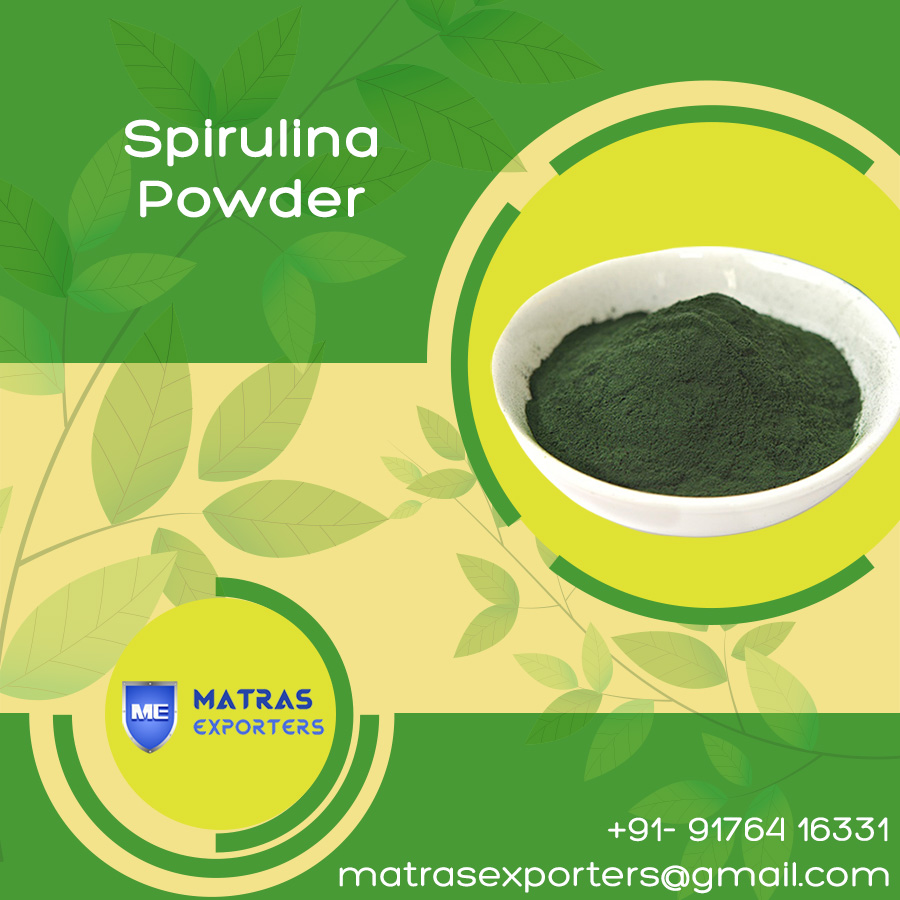 Powdered Spirulina at moderate price from India