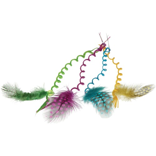 CURLY HAIR PIECES W/FEATHER #4329