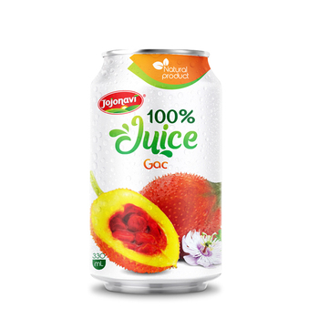Canned 330ml Gac Drink Fruit juice drink export Gac fruit juice from Vietnam