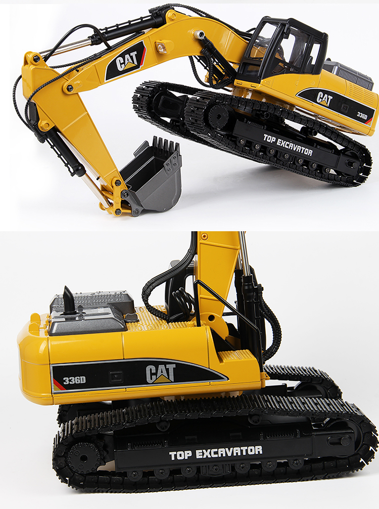 Decorative CAT 336D Sticker Decal for Huina 580 RC Excavator