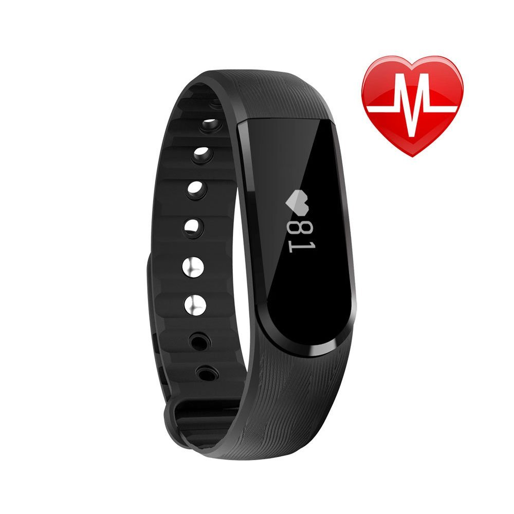 LETSCOM Fitness Tracker Watch, Bluetooth 4.0 Heart Rate Monitor Bracelet, IP67 Waterproof Touch Screen Smart Bands with Activity