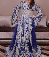 Designer Moroccan Wedding Crystal Kaftan 2016
