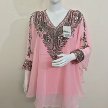hot selling short unique style ethnic wear kaftan caftan free size hand beads embroidery work