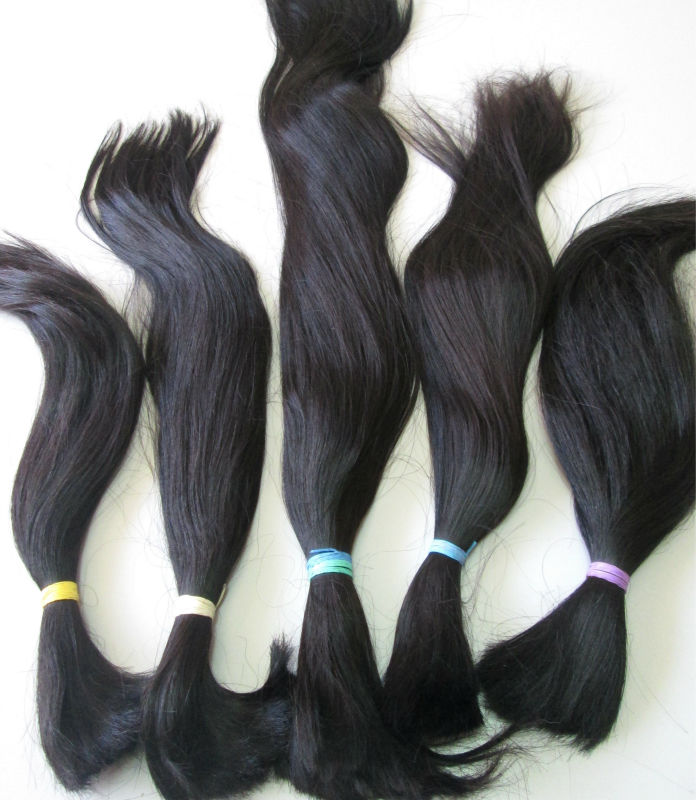 Aesthetic human bulk hair single drawn natural soft wave, and natural straight from the Philippines