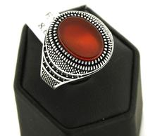Hot Selling Red Onyx Stone Man Ring