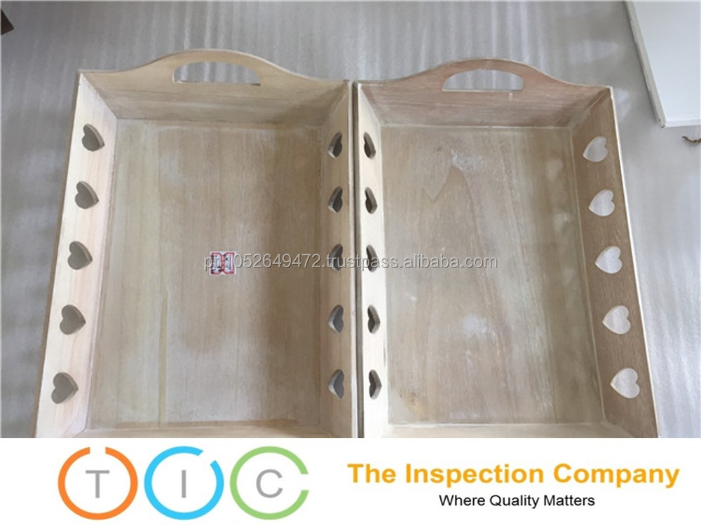 3rd Party Inspection service Myanmar quality control Wooden Tray
