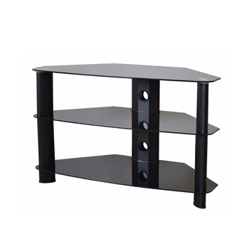 Simple design aluminum pipe threaded metal legs tv stand