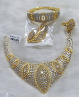 American diamond jewelry set combo with bracelet and ring for women- African Bridal Jewelry