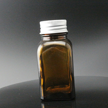 1oz 2oz 4oz 6oz 8oz 1/2 oz 12oz 16oz amber french square <strong>glass</strong> bottle with Black Cap